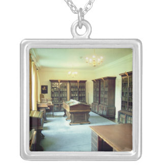 Interior view silver plated necklace