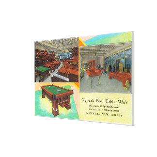 Interior Views of Newark Pool Table Canvas Print