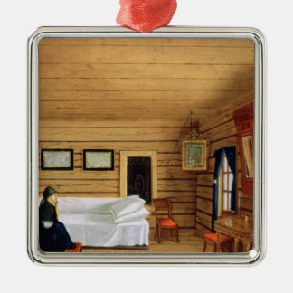 Interior with a seated woman christmas ornament