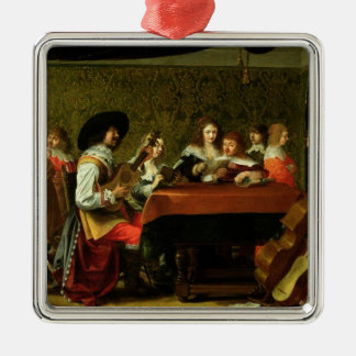 Interior with Musicians and Singers Christmas Ornament