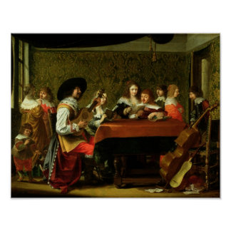 Interior with Musicians and Singers Poster