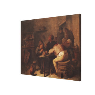 Interior with Smokers Canvas Print