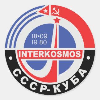 Interkosmos Round Sticker