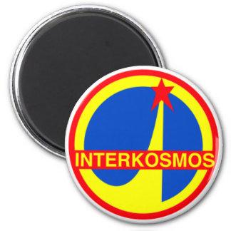 Interkosmos, Soviet Union Communist Space Program 6 Cm Round Magnet