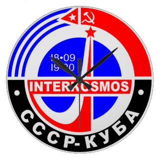 INTERKOSMOS (SPACE AGE) Wall Clock