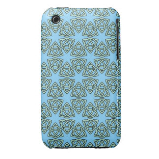 INTERLACED PATTERN in Blue ~ iPhone 3 Case-Mate Cases