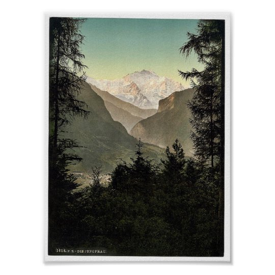 Interlaken, hotels, Bernese Oberland, Switzerland. Poster