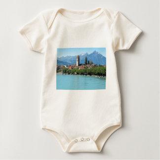 Interlaken, Unterseen village and church Baby Bodysuit