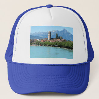 Interlaken, Unterseen village and church Trucker Hat