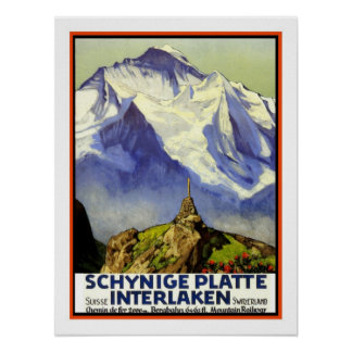 Interlaken Vintage Travel Poster