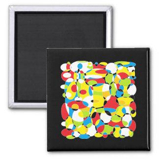 Interlocking Circles of Life Square Magnet