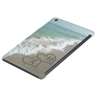Interlocking Hearts on Beach Sand iPad Mini Cases