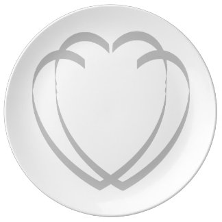Interlocking Hearts Porcelain Plate