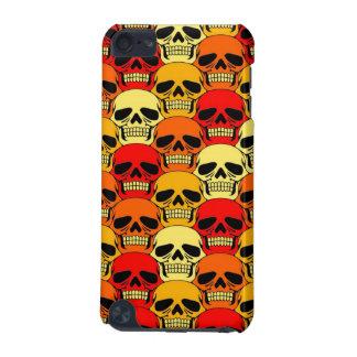 Interlocking Skull Pattern Red, Orange and Yellow iPod Touch (5th Generation) Case