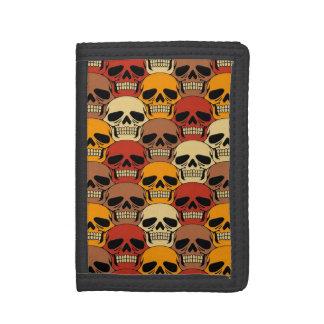 Interlocking Skull Pattern Tri-fold Wallets