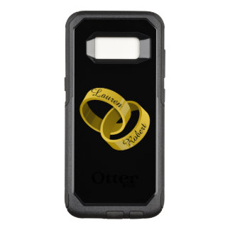 Interlocking Wedding Rings - Engraved custom Names OtterBox Commuter Samsung Galaxy S8 Case