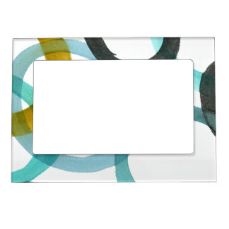 Interlocking Yellow & Blue Circles Magnetic Photo Frame
