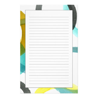 Interlocking Yellow & Blue Circles Stationery