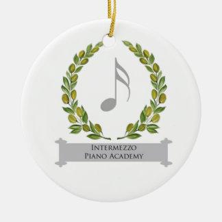 Intermezzo Piano Academy Double-Sided Ceramic Round Christmas Ornament