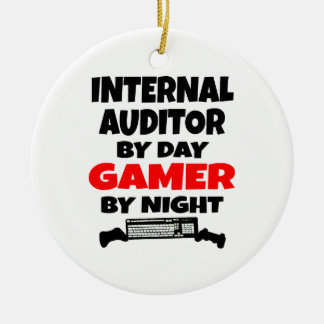Internal Auditor by Day Gamer by Night Christmas Ornament