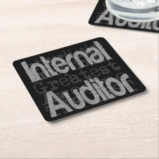 Internal Auditor Extraordinaire Square Paper Coaster
