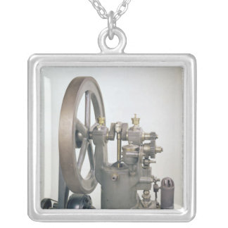 Internal combustion engine, 1876 silver plated necklace
