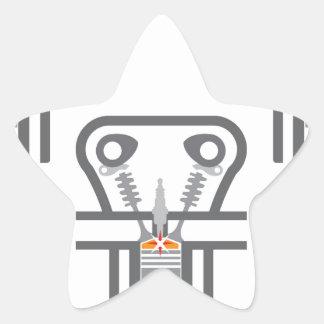 Internal combustion engine vector star sticker