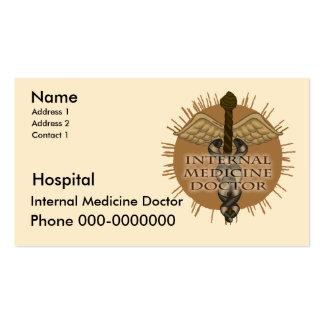 Internal Medicine Doctor Pack Of Standard Business Cards