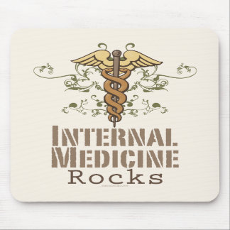 Internal Medicine Rocks Caduceus Mousepad