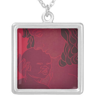 Internal Rhyme Square Pendant Necklace