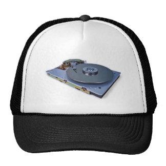 Internals of a hard disk drive mesh hat