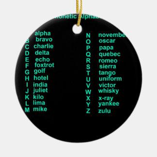 International Alphabet Christmas Ornament