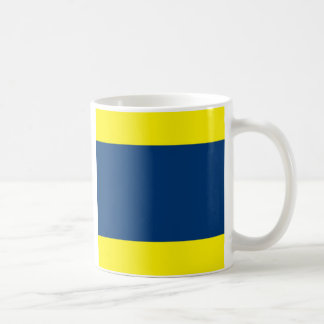 International Alphabet Flags D Basic White Mug