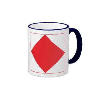 International Alphabet Flags F Ringer Mug