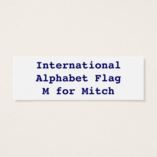 International Alphabet Flags M Mini Business Card