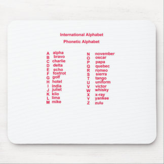 International Alphabet Mouse Mat