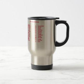 International Alphabet Travel Mug