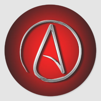 International Atheist Symbol Classic Round Sticker