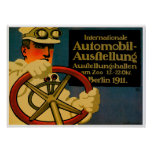 International Auto Show ~ Vintage Motor Car Ad Poster