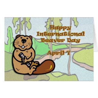 International Beaver Day April 7 Card