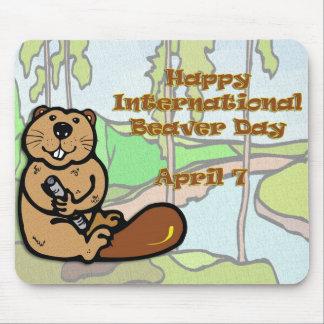 International Beaver Day April 7 Mousepad