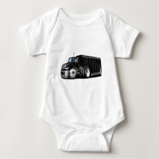 International Black Delivery Truck Baby Bodysuit