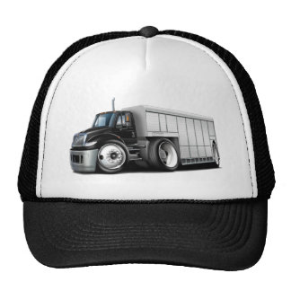 International Black-White Delivery Truck Cap