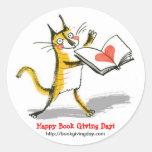 International Book Giving Day sticker (round)