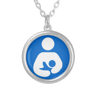 International Breastfeeding Symbol Silver Plated Necklace
