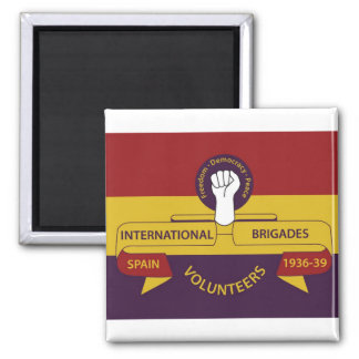 International Brigades Square Magnet
