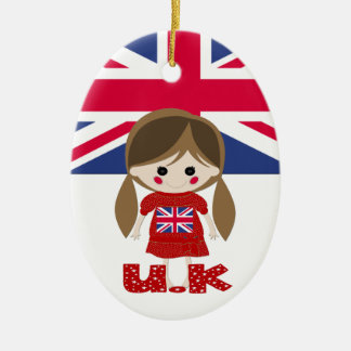 International - British Girl - SRF Christmas Ornament