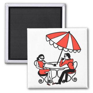 International Cafe Square Magnet