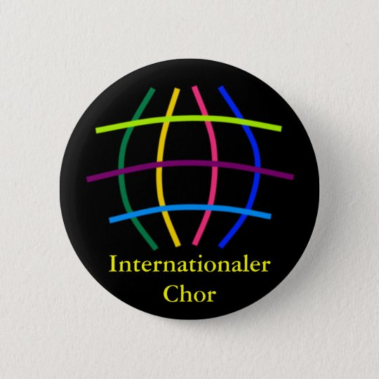 International choir 6 cm round badge