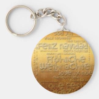 International Christmas Weihnachten Navidad - Basic Round Button Key Ring